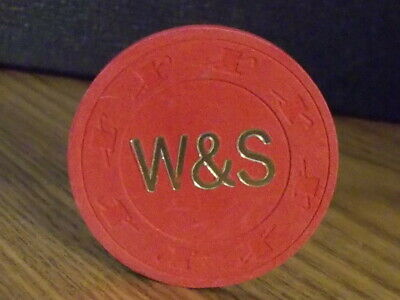 W&S CASINO NO CASH VALUE SHOWN hotel casino gaming poker chip