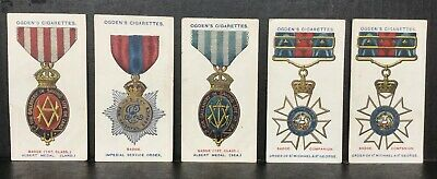 Orders Of Chivalry Cigarette Cards x 5 Antique Ogden's 1907 UK