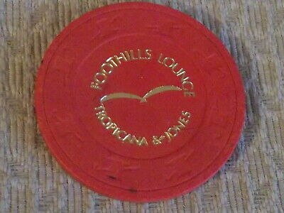 FOOTHILLS LOUNGE CASINO GOOD FOR 1 FREE COCKTAIL hotel casino gaming poker chip