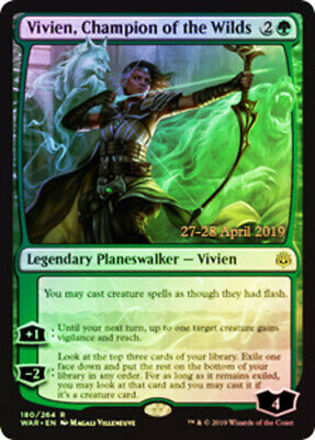 Professionally Non Factory Cut MTG 1x Foil Vivien/'s Arkbow War of the Spark