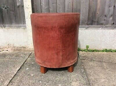 Vintage Real Leather Oxblood Stool