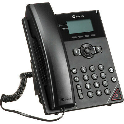 Lot of 10 Polycom VVX 310 IP Business Media PoE Phones With Handsets and Stands
