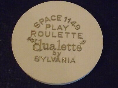 SPACE 1149 PLAY ROULETTE FOR DUALETTE BY SYLVANIA casino gaming poker chip