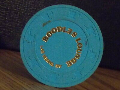 BOODLES LOUNGE CASINO NO CASH VALUE casino gaming poker chip ~ Las Vegas, NV