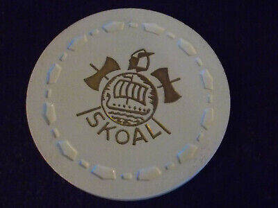 SKOAL ADVERTISING RAIN CHECK casino gaming poker chip