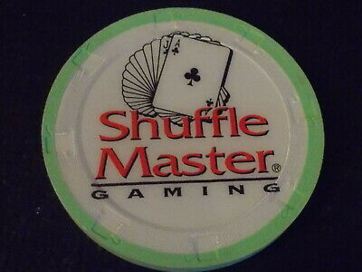SHUFFLE MASTER NO CASH VALUE SHOWN Hotel casino PROMO gaming poker chip