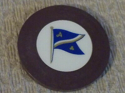CREST AND SEAL ~ FLAG (brown) HOTEL CASINO gaming poker chip