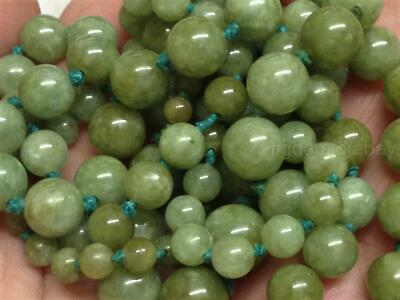 VTG ANTIQUE JADE BEADS NECKLACE 82cm GRADUATED VICTORIAN/EDWARDIAN/DECO/NOUVEAU