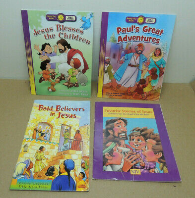 Lot of 4 Childrens Bible Happy Day Books Jesus Christian Little Learners SCs