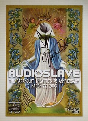 Audioslave (Chris Cornell) 2003 Seattle Concert Poster *Signed By All 4 Members*