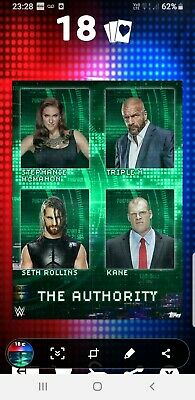 Topps WWE Slam Digital Card the Authority motion 2020 factions stables