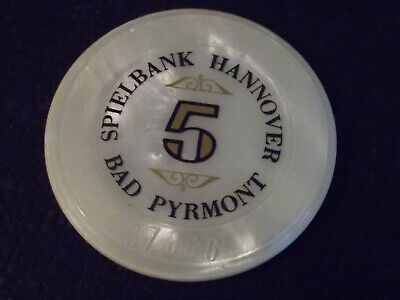 SPIELBANK HANNOVER CASINO 5 hotel casino gaming JETON poker chip ~ BAD PYRMONT