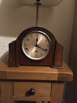 Walker And Hall Mantle Clock Westminster Chime No Key. Read Description