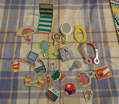 Vintage cardboard pieces for Barbie or other doll plus plastic mirror