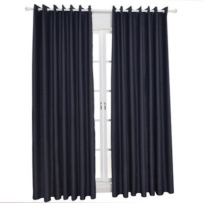 Blackout Thermal Insulated Sleep Well Curtains Sunblind for Bedroom Living House