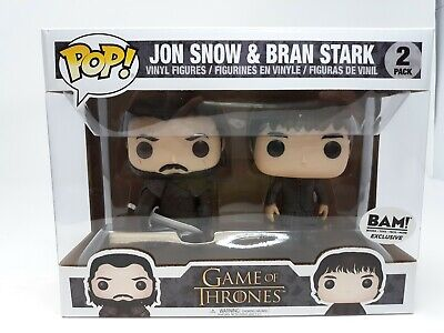 NEW Funko Pop 2 pack Game of Thrones Jon Snow Bran Stark BAM Vinyl Figure FP20