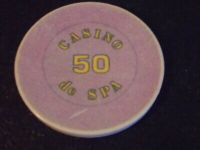 CASINO de SPA 50 Hotel Casino Gaming Poker Chip ~ INTERNATIONAL