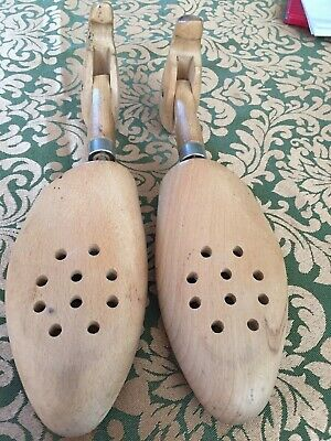 Vintage  W  GERMANY   Wooden Shoe Trees - 1 pair Size   L