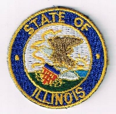 Illinois state seal - embroidered cloth patch