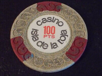 CASINO ISLA DE LA ROJA 100pts hotel casino gaming poker chip