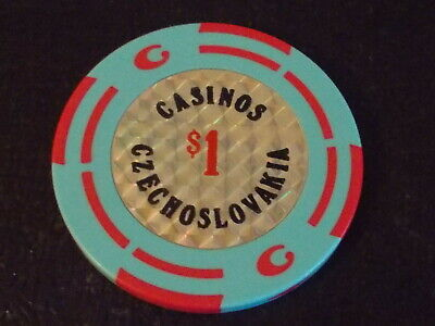 CASINO CZECHOSLOVAKIA $1 hotel casino gaming poker chip