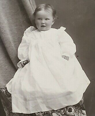 Antique Cabinet Card ID'd Infant Girl, L. A. Sprague Photographer