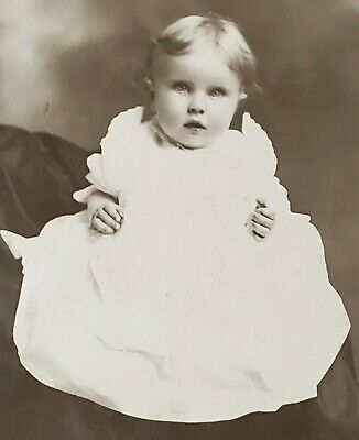 Antique Cabinet Card ID'd Infant Girl, Elite Studio Red Bluff CA
