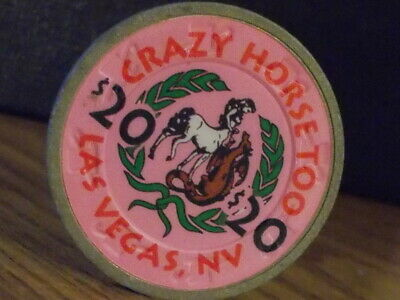 CRAZY HORSE TOO CASINO $20 hotel casino gaming poker chip ~ Las Vegas, NV