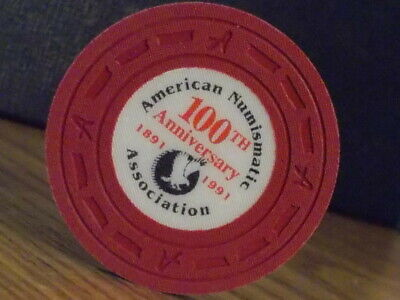 AMERICAN NUMISMATIC ASSOCIATION  NO CASH VALUE SHOWN casino gaming poker chip