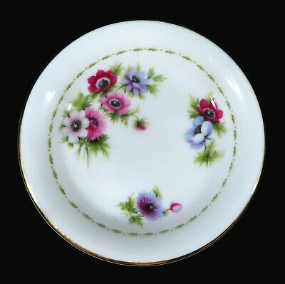 ROYAL ALBERT BUTTER / PIN DISH - ANEMONE'S - Flower of the Month March