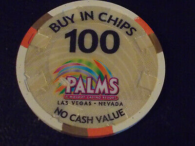 PALMS CASINO RESORT NCV 100 BUY IN CHIPS OVERSIZED casino gaming poker chip ~NV