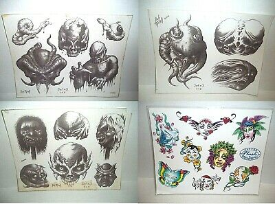 Collection of 22 piece Tattoo Flash Art Seattle Convention Tyrrell Johnson &More