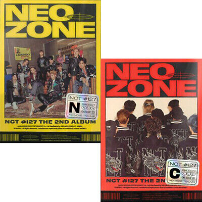 NCT 127 NEO ZONE 2nd Album CD+2-type Poster+Photo Book+Lyrics+Sticker+2Card+GIFT