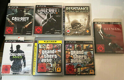 7 X PS3 Juegos - Gta, Call Of Duty , Residance & Hitman (USK 18)