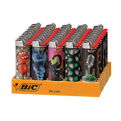 BIC Special Hip Nation Series Lighters, 50-Count Tray