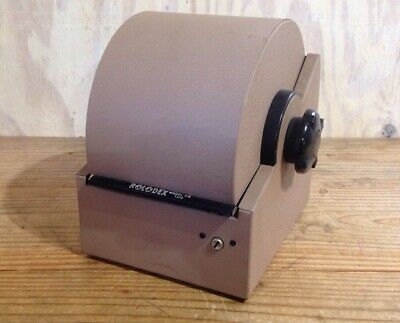 Vintage Rolodex Zephyr American Corp Metal Roll Top Rotary Card Desk File