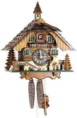 Black Forest Cuckoo Clock Wooden 1–Day Mechanical Mechanism with VDS Certificate