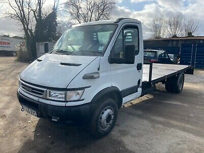 06 Iveco 65C17 6.5 ton recovery truck beavertail plant lorry transporter trailer