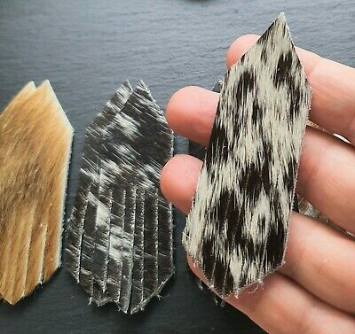 10pc Hair on Cowhide Leather Tassel Pairs Assorted Colours Brown Cream Black