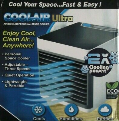 CoolAir ULTRA Air Cooler Portable Evaporative 2x Cooling Power, 3 Speeds