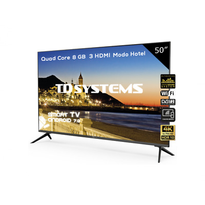 "TV 50"" Led Ultra HD 4K Smart TD Systems K50DLX9US-S [Outlet - Tara técnica]"