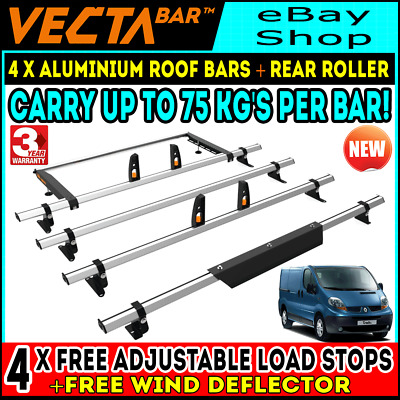 Mercedes Vito Roof Rack Bars x3 With Ladder Roller 2015-2020 LONG-L2 Twin Rear