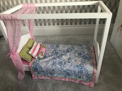 Our Generation Doll My Sweet Canopy Four Poster Bed with Cushions Bedding