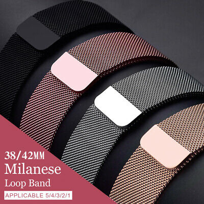 Milanese Loop Strap Watch Band for Apple Watch Series 5 Series 4 38MM/40MM