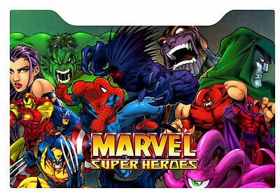 Marvel Super Heroes Vs SF Arcade 1up Cabinet Riser Graphic Decal Sticker
