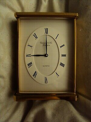 garrard & co london brass quartz mantle carraige clock swiss pr245 ,5x4""