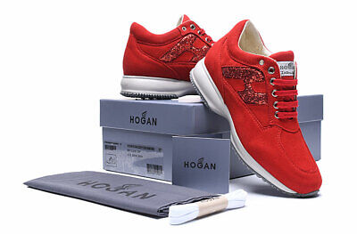 Hogan Interactive Scarpe Rosse Donna Tg.size 35,5-39,5 Nuove Shoes Women Sneaker