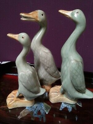 Antique Chinese Celadon Glazed Duck statues/ornaments