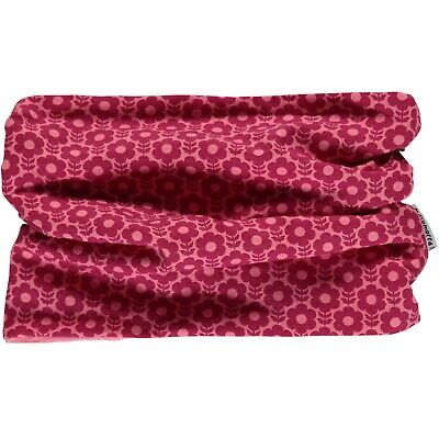 *NEW* MAXOMORRA flower - organic cotton - tube scarf  velour lining  6-24 months