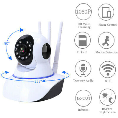 1080P HD Wireless IP Security Camera Indoor CCTV Home Smart Wifi Baby Monitor D1
